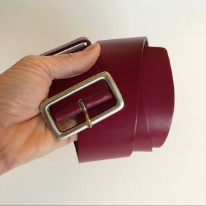 New York & Co Cranberry Leather Belt